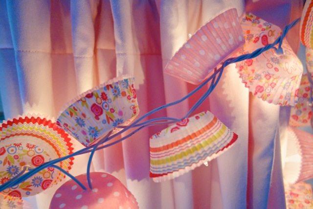 Cupcake Liner Twinkle Lights
