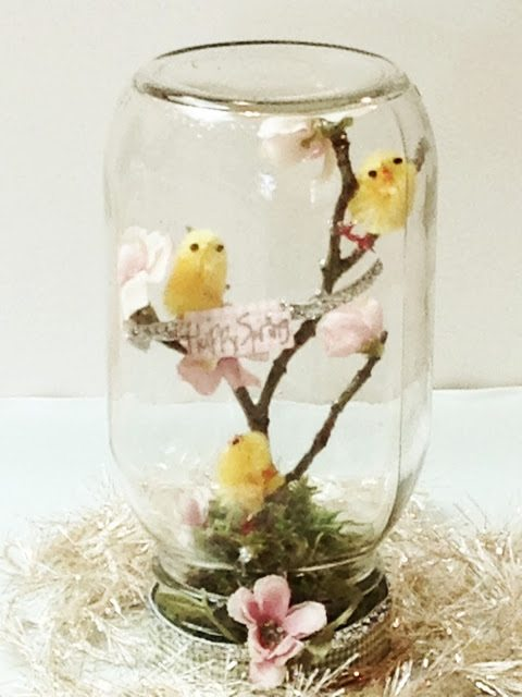 spring Mason jar craft