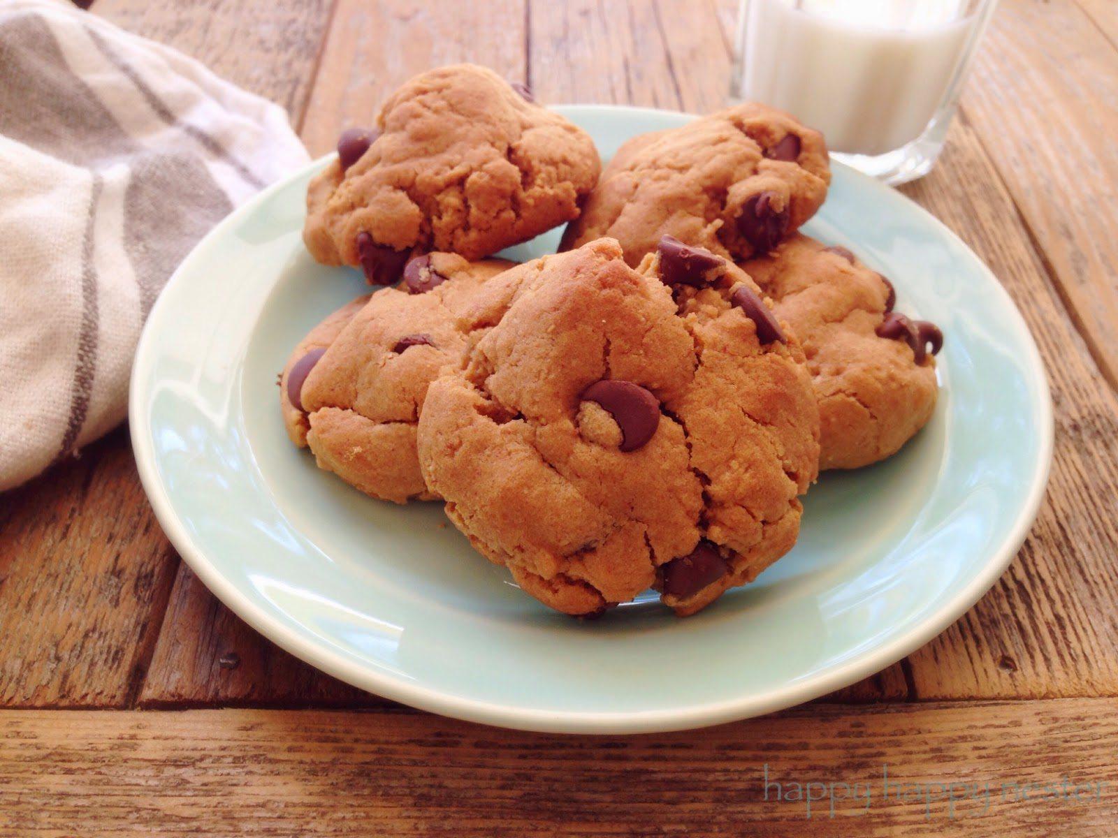 Gluten Free Peanut Butter Chocolate Chip Cookies