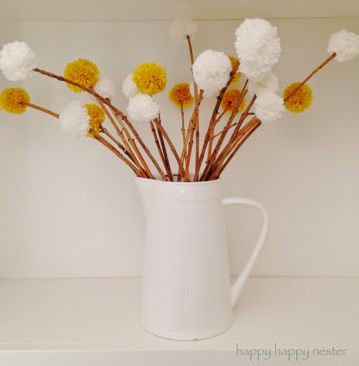 Pom Pom Yarn Flowers