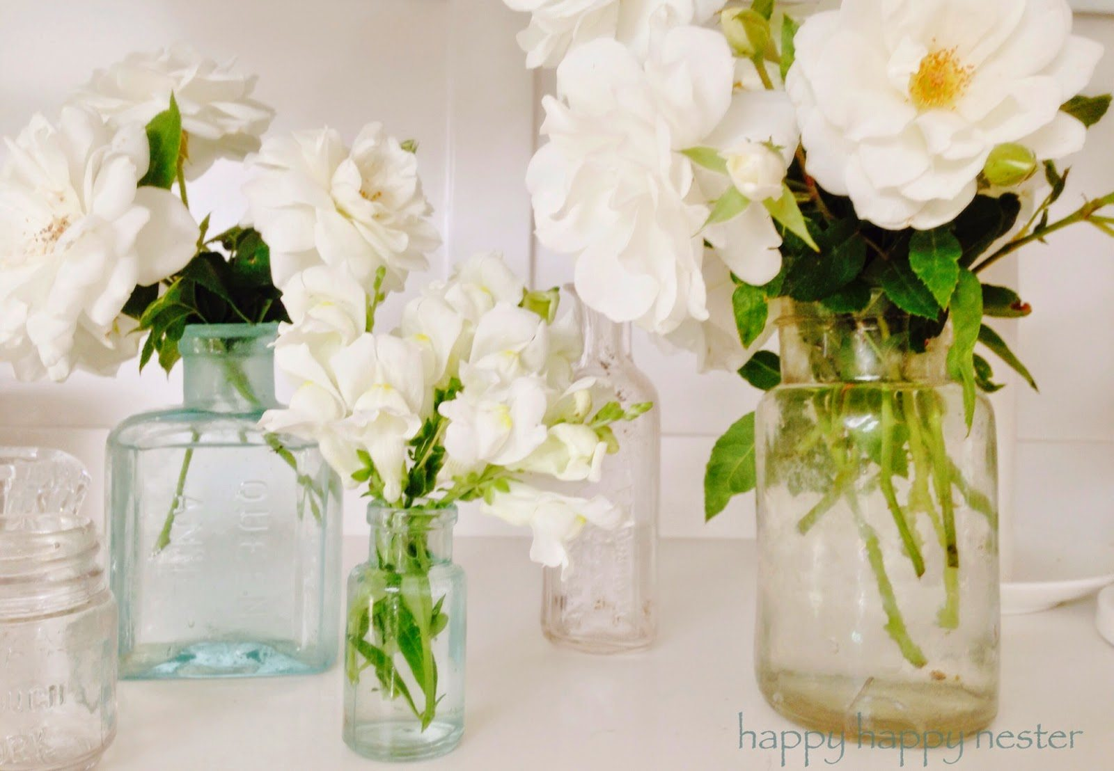 Decorating with Antique Bottles