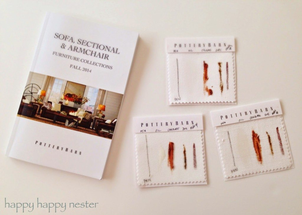 The Tough Sofa Stains ~ Here Are The Pottery Barn Slipcover Swatches With  Their Line Up Of Stains!