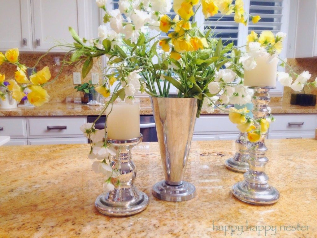 decorating with pottery barn style silk flowers happy