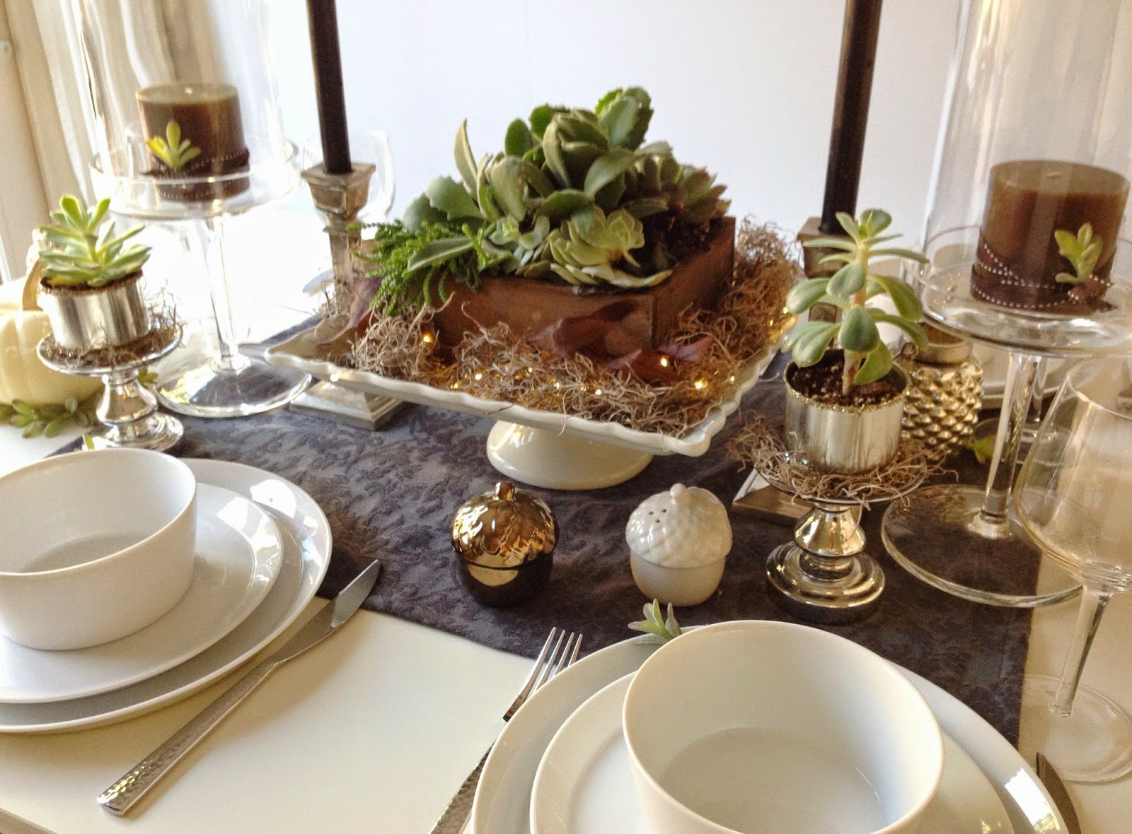 Beautiful Succulent Table Decor