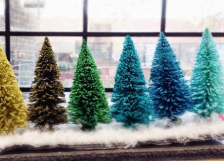 How to Make Bottle Brush Holiday Trees