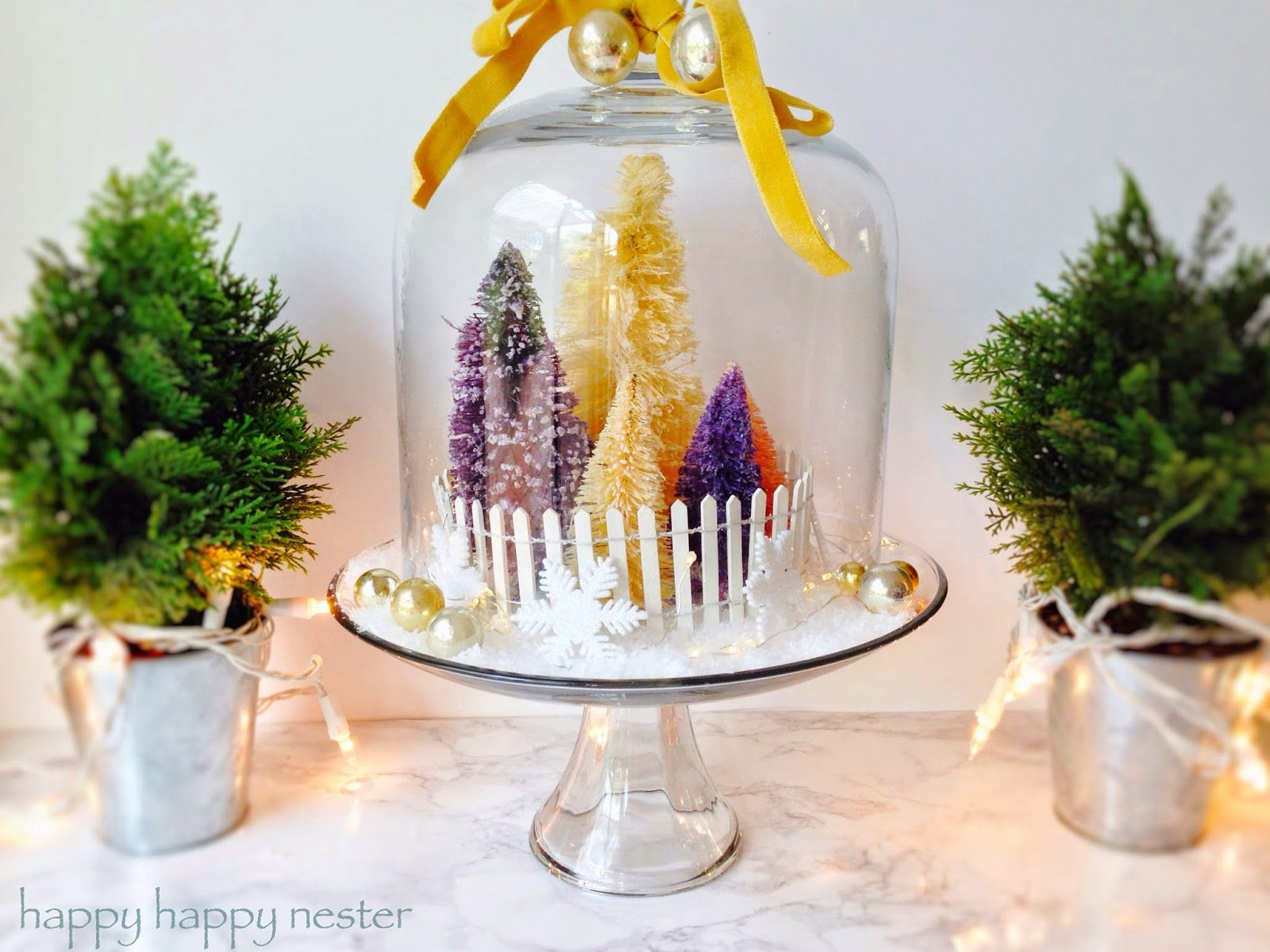 How to Make Bottle Brush Holiday Trees