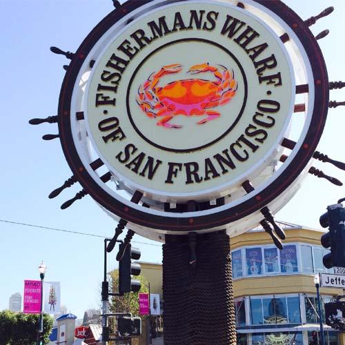 San Francisco wharf sign