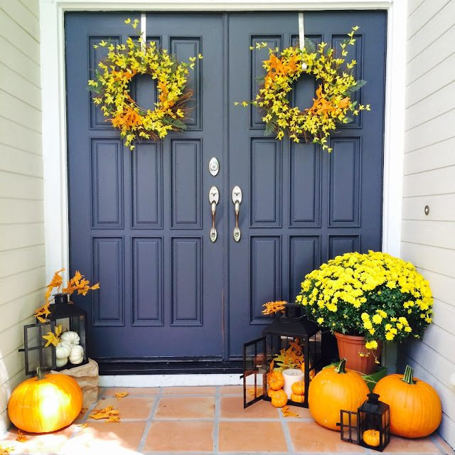 Homegoods fall home tour happy happy nester for Home goods fall decorations