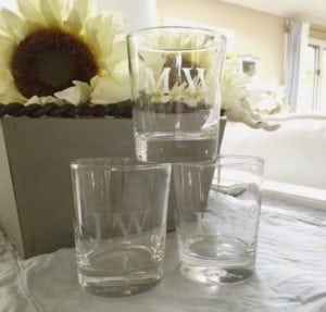 gift ideas etched drinking glasses