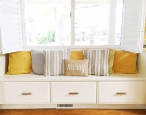window shutters bench