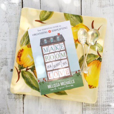 Melissa Michaels book, Make Room for What You Love is an inspiring book. Melissa has realistic ideas that will motivate you to tackle clutter immediately.