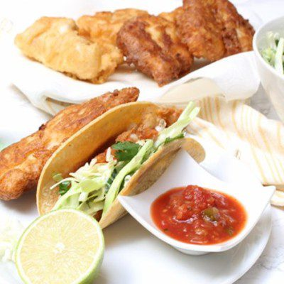 Pineapple Salsa Fish Tacos
