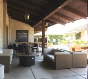 wente vineyards lounge area
