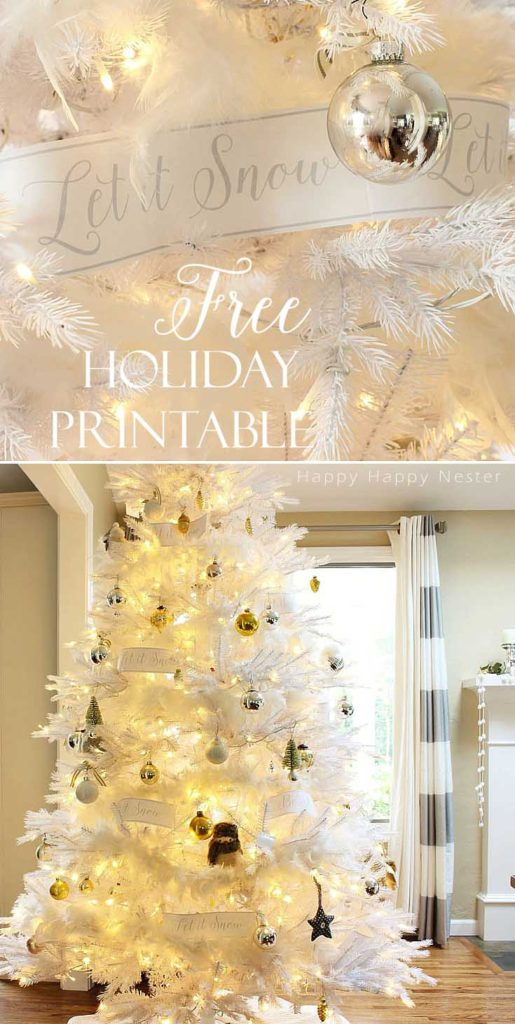Enjoy this free Holiday Printable! I've designed a banner similar to Pottery Barn and I've created it in gray and red for whatever holiday decor you have.