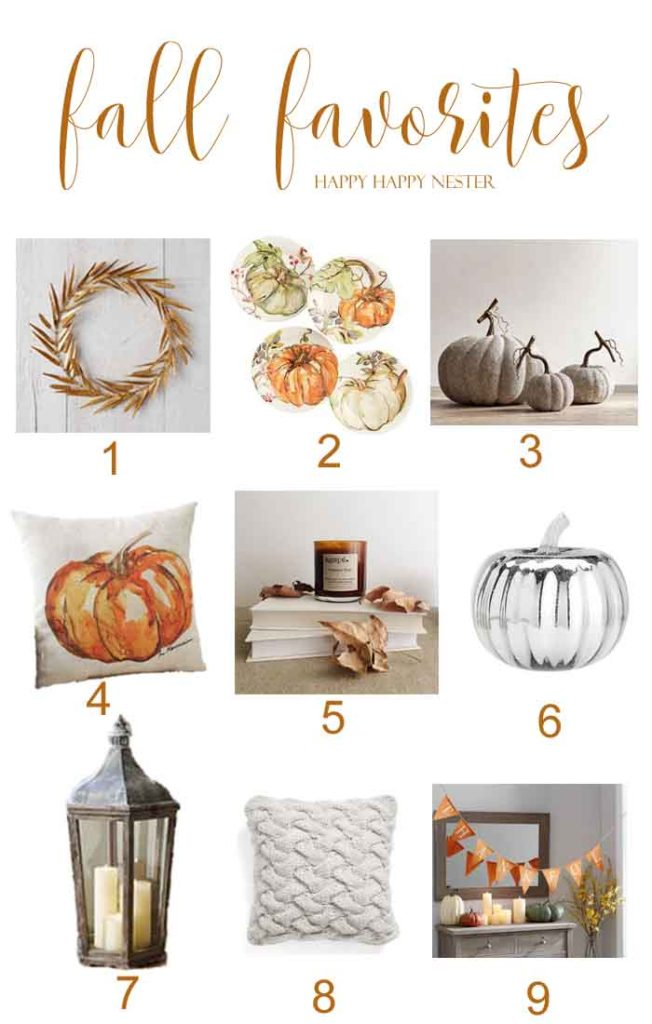 Don't miss out on these fun a festive Fall Favorites of mine. Some items are on sale and such a great deal. Get a jump on your Autumn decorating!