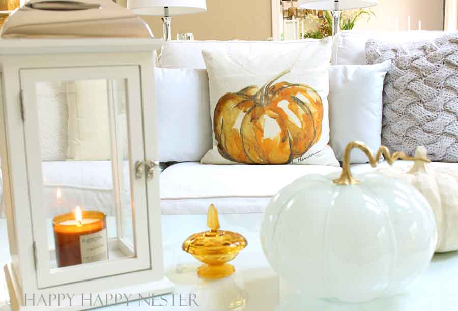 pottery barn watercolor pumpkin pillow