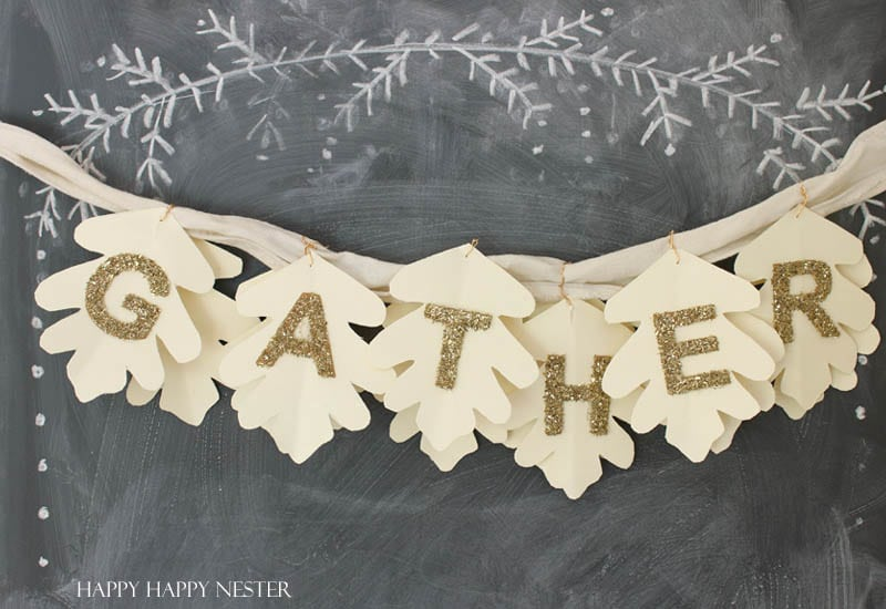 gather paper garland diy