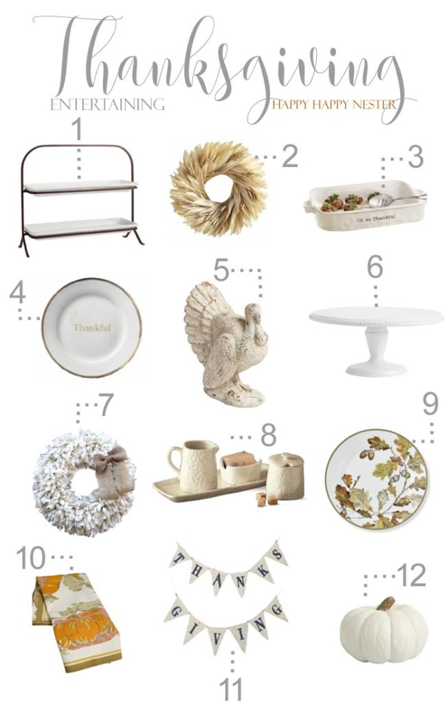 Need some ideas for styling your Thanksgiving Table? Here are 12 items that are charming. Entertaining this year will be beautiful with this table decor.