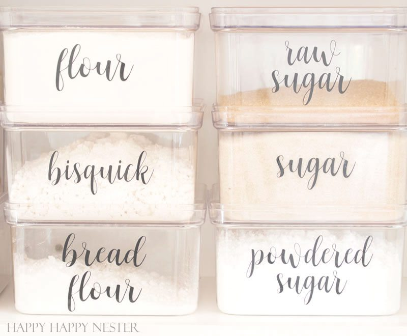 Organizing Kitchen Labels
