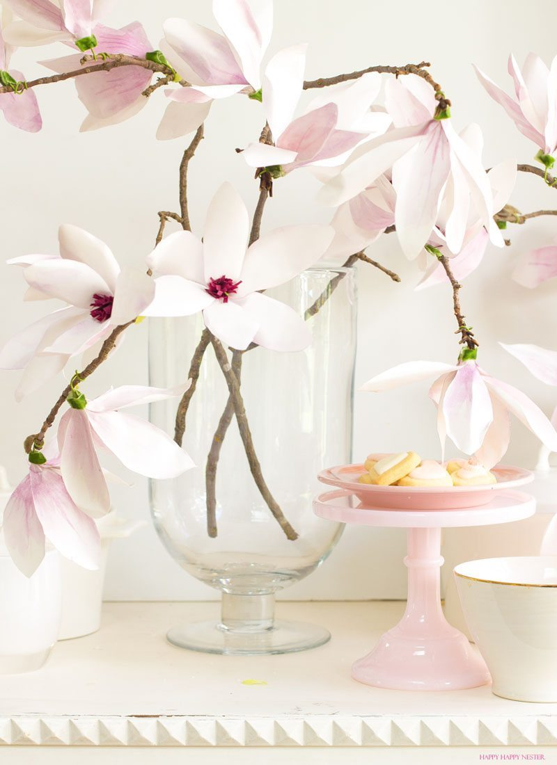 Paper flower tutorial magnolia flowers happy happy nester Flowers that make you happy
