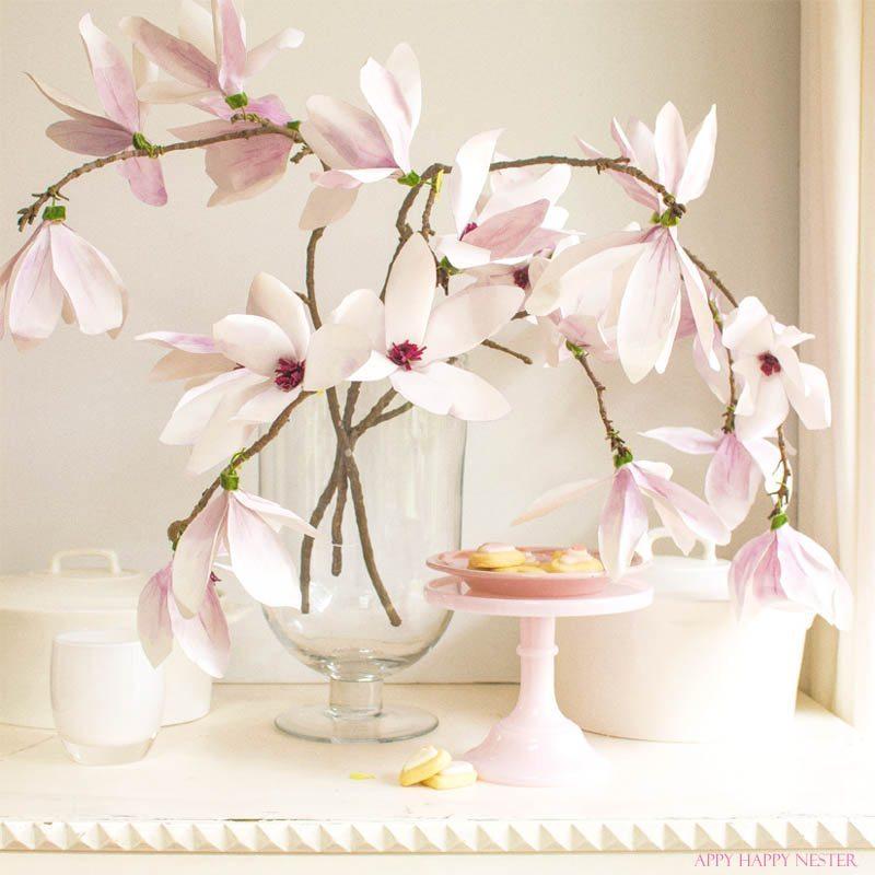 Paper flower tutorial magnolia flowers happy happy nester these magnolia flowers look so real this paper flower tutorial you wont want mightylinksfo