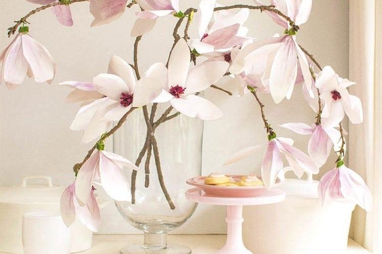 Paper Flower Tutorial: Magnolia Flowers
