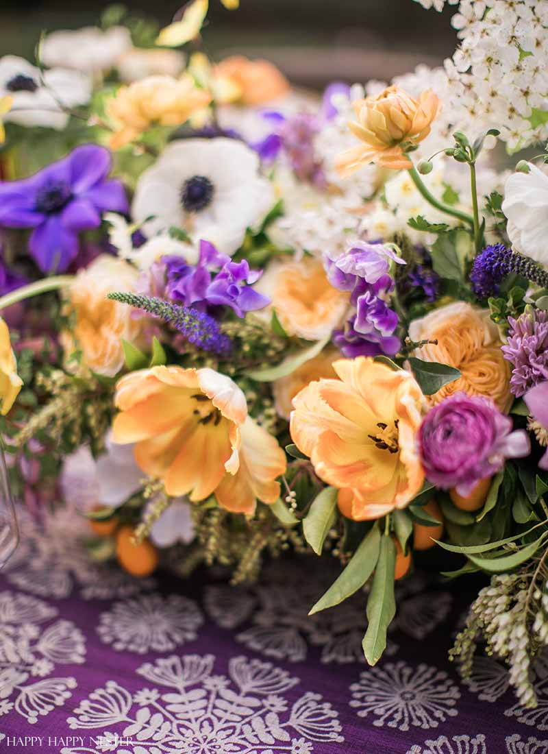Spring Table Setting Beautiful Flower Centerpieces Happy Happy Nester