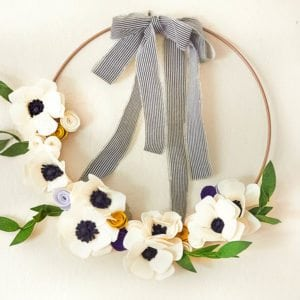 How to Make 3 Felt Flowers and Leaves