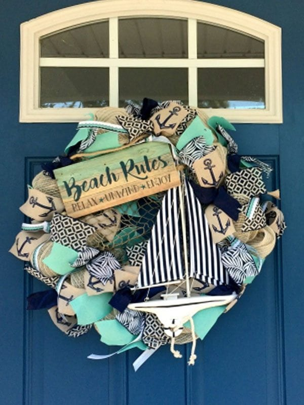 summer wreath diy for front porch