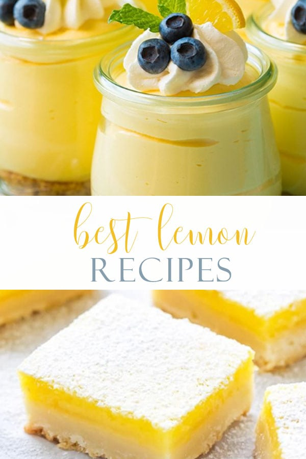 Lemon desserts are such a refreshing treat any time of the year. If you need a recipe for lemon curd, a luscious cake, or cupcakes we have you covered. Here are 9 wonderful easy lemon recipes that will be longtime favorites in your family. #recipes #lemon #lemonrecipes #lemondesserts #baking #easylemondesserts #cooking