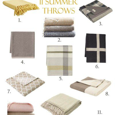 11 of My Favorite Summer Throws You'll Absolutely will Love