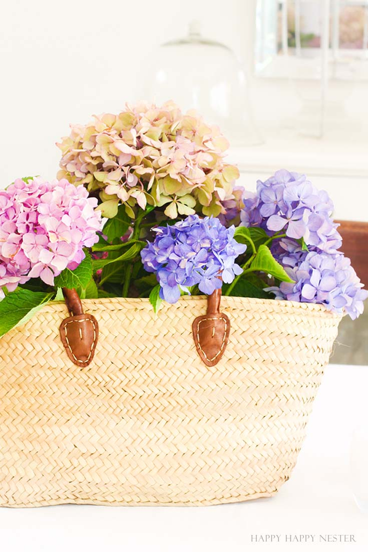 close up of flowers in a basket