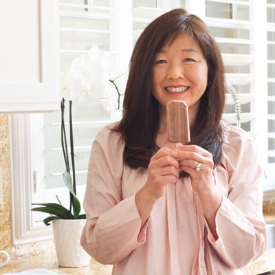 Homemade Popsicles made from Creamy Custard