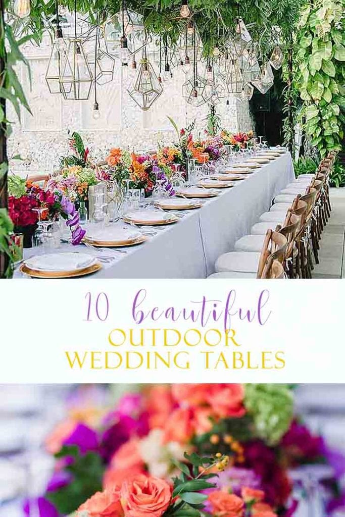 I have rounded up 10 beautiful wedding reception table ideas. Visit this post for a wide variety of inspiring tables from coastal tables to a rustic table setting ideas and much more. These are among the best wedding reception decorations. #wedding #weddingreceptiontable #weddingreception #tabledecor #weddings