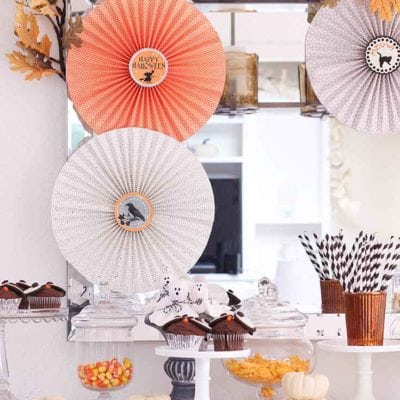 How to Make Paper Rosettes for Halloween