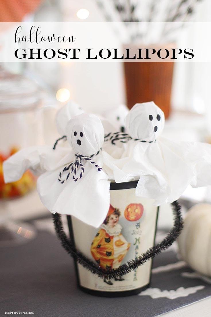 ghost lollipop pin