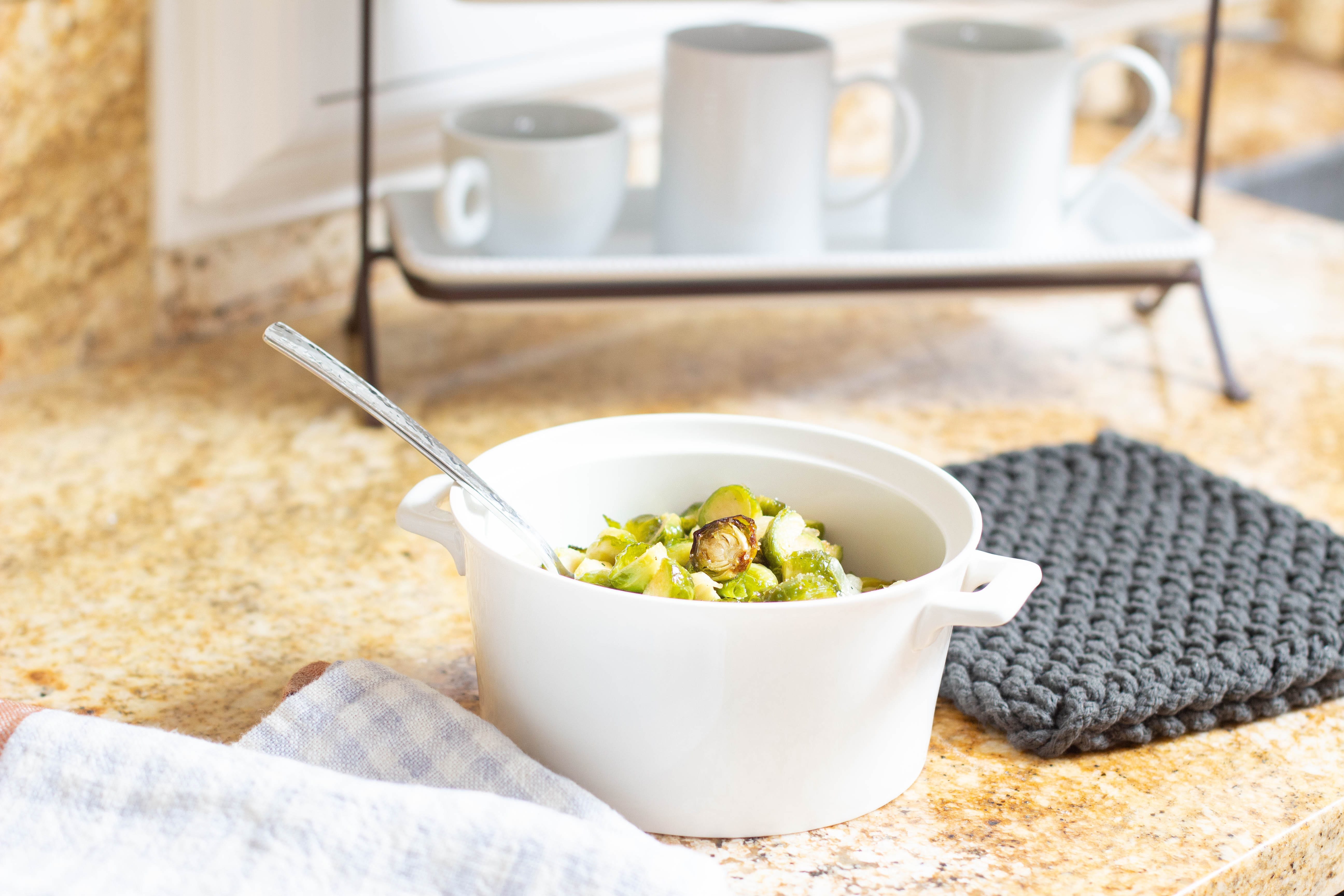 caramelized roasted brussels sprouts recipe for thanksgiving dinner