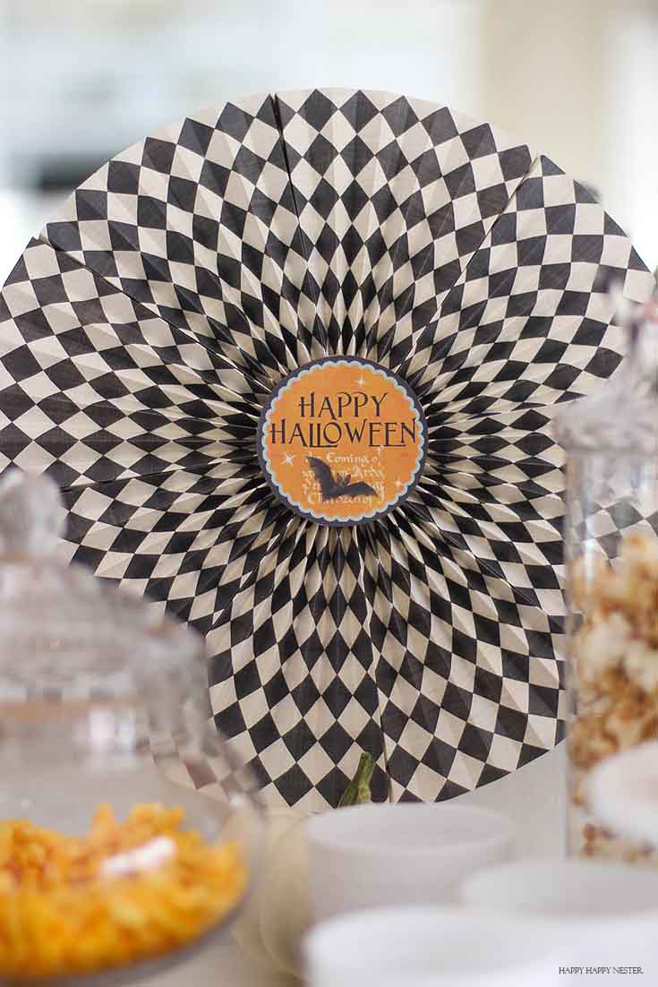 close up of halloween paper pinwheel
