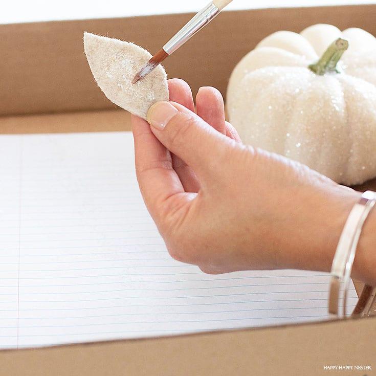 how to make glitter pumpkins diy