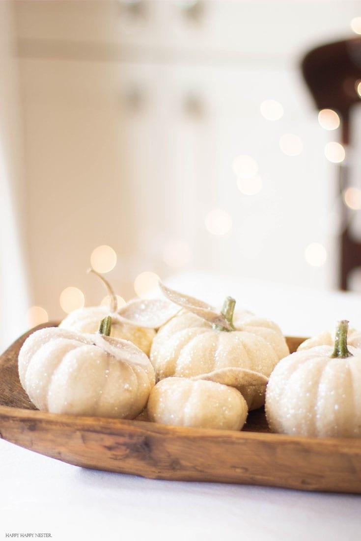 use cute mini glitter pumpkins
