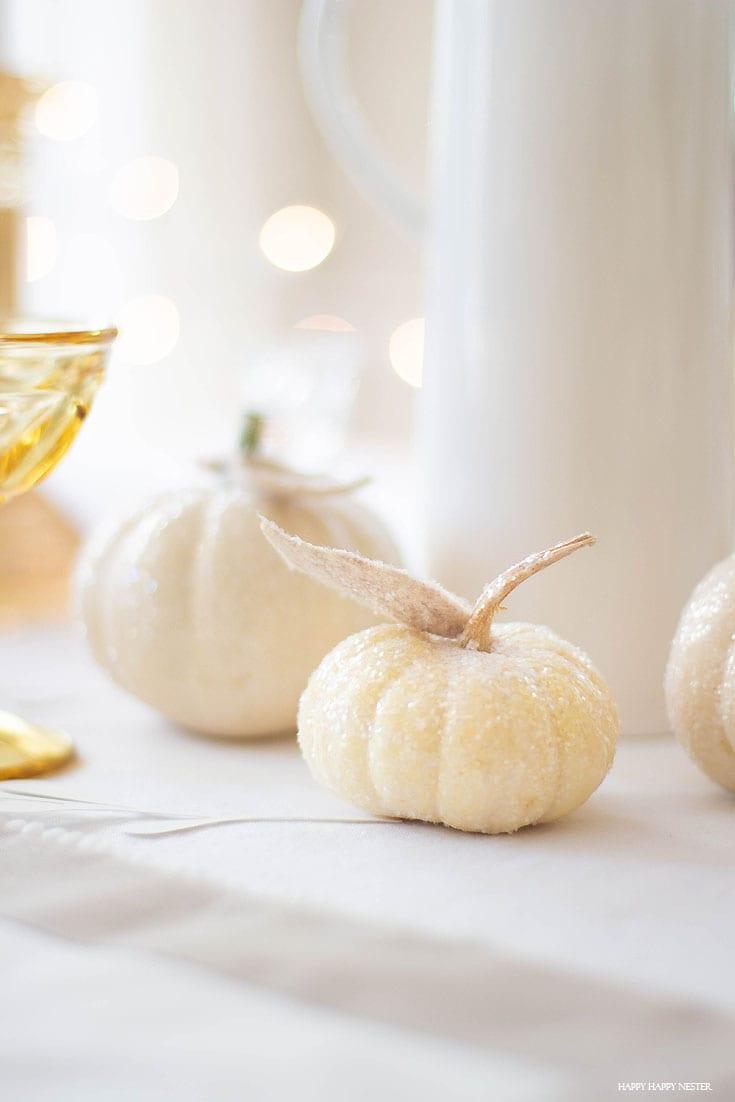 thanksgiving glitter pumpkins