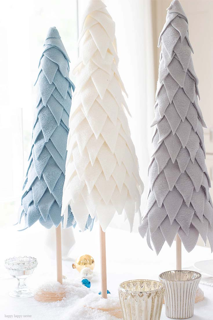 fleece cone christmas tree tutorial