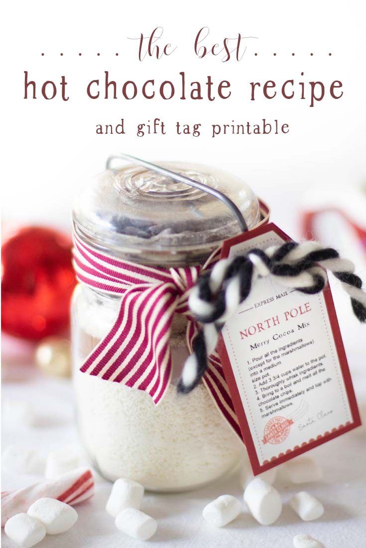 This Homemade Hot Chocolate Mix With A Gift Tag Uses Premium Ingredients To Make Gourmet