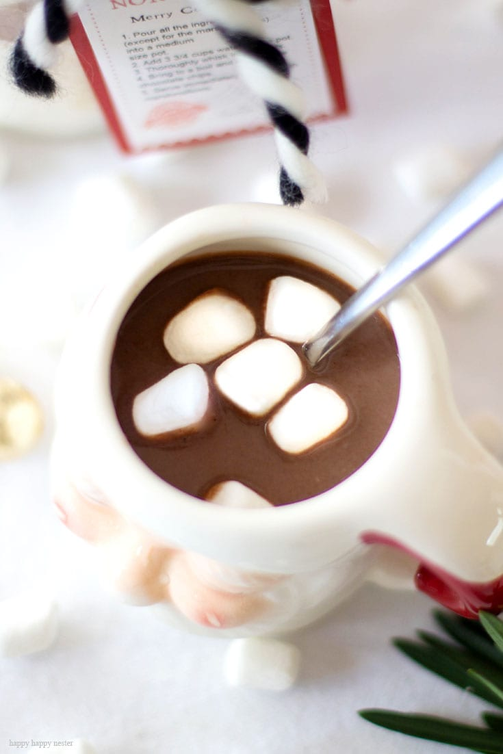 Homemade Hot Chocolate Mix With A Gift Tag | Homemade Hot Cocoa | Hot Chocolate Recipe | Hot Cocoa Recipe | Hot Chocolate Recipe With Powdered Milk | Gift Ideas For The Holidays | Holiday Gifts | The Best Hot Chocolate Recipe | Baking | Recipes