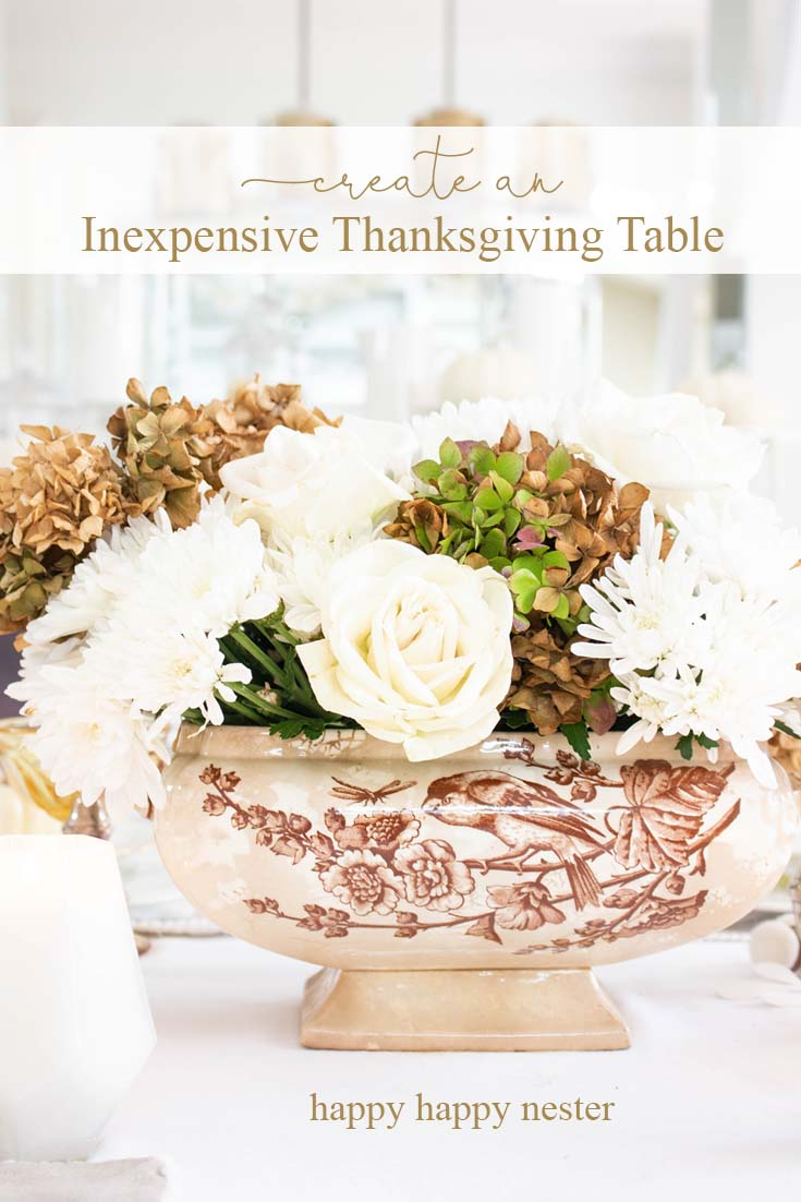 an inexpensive Thanksgiving table pin for pinterest