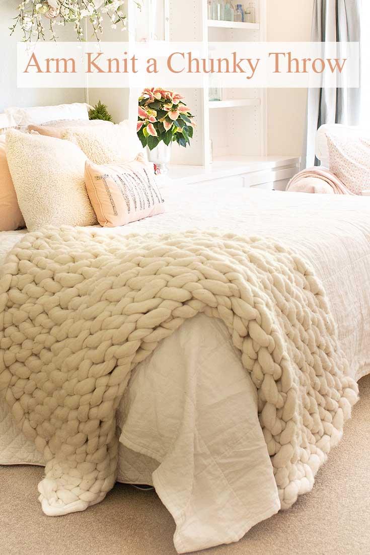 Chunky Arm Knit Throw DIY - Happy Happy Nester 5531f6d7b