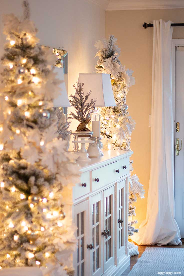 Welcome to an inspiring Christmas Home Night Tour. On the tour are my front porch, living room, and dining room. The tour includes twinkle lights, Christmas trees, holiday cookies, and even a decorated bike. The evening light makes everything sparkle and magical. Christmas Tour   Holidays   Christmas Decor   Christmas