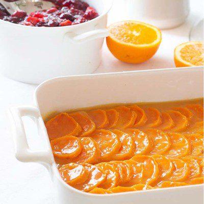 Yams Baked in Orange Sauce Recipe