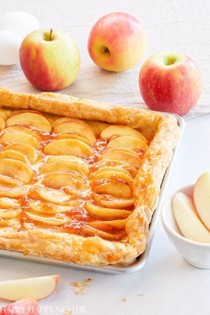 puff pastry fruit tart custard